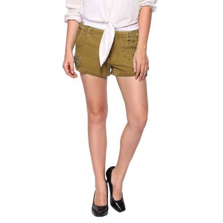 Da Nang Women's Silk Blend Brown Shorts
