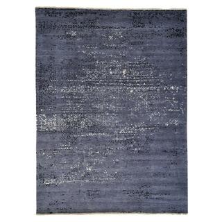 Hand-knotted Wool/ Silk Modern Oriental Rug (8'10 x 11'10)