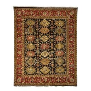 Handmade Black Karajeh Wool Oriental Rug (8' x 9'10)