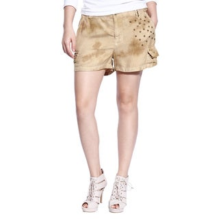 Da Nang Women's Silk Blend Stud Shorts