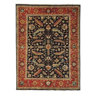 Handmade Antiqued Heriz Recreation Oriental Rug (9' x 11'10)