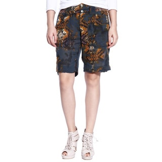 Da Nang Women's Tribal Print Knee Length Capri Pants