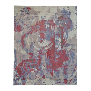 Hand-loomed Viscose Rayon from Bamboo Oriental Abstract Rug (8' x 10')