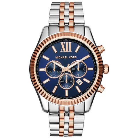 Michael Kors Men's MK8412 Lexington Two-tone Multifunction Watch - Blue