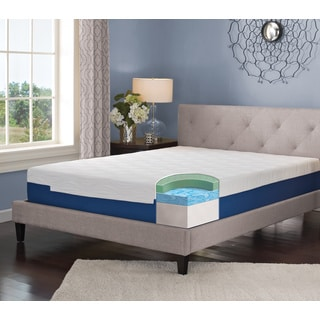 LANE 9-inch California King-size Gel Memory Foam Mattress with bonus pillow