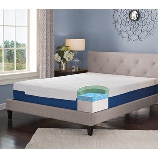 LANE 9-inch King-size Gel Memory Foam Mattress with bonus pillow
