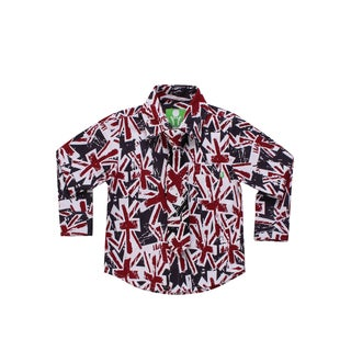 Future Trillionaire Boys Union Jack Print Shirt with Matching Neck Tie
