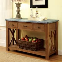 Furniture of America Aralla Industrial Style 3-drawer Server/Console Table