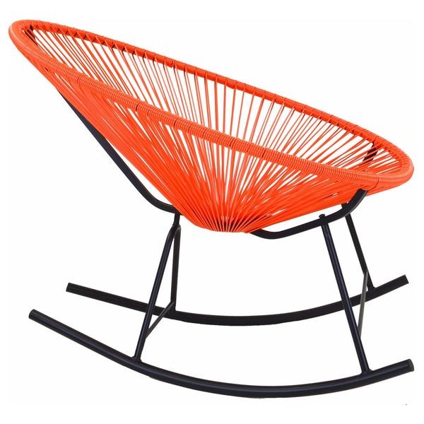 Acapulco Indoor Outdoor Rocking Chair In Orange Free
