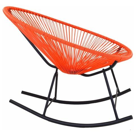 Acapulco Indoor/Outdoor Rocking Chair in Orange