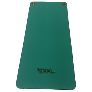 Aeromat Green Workout Mat with Eyelets (56 inches long)