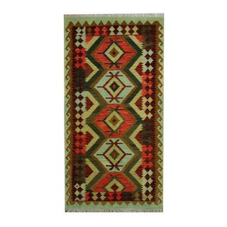 Herat Oriental Afghan Hand-woven Tribal Vegetable Dye Kilim Rust/ Brown Wool Rug (3'4 x 6'6)