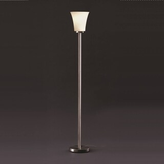 Justice Design Fusion Torchiere Lamp, Nickel