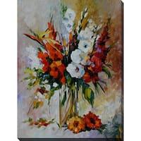Leonid Afremov 'Gladiolus' Giclee Print Canvas Wall Art