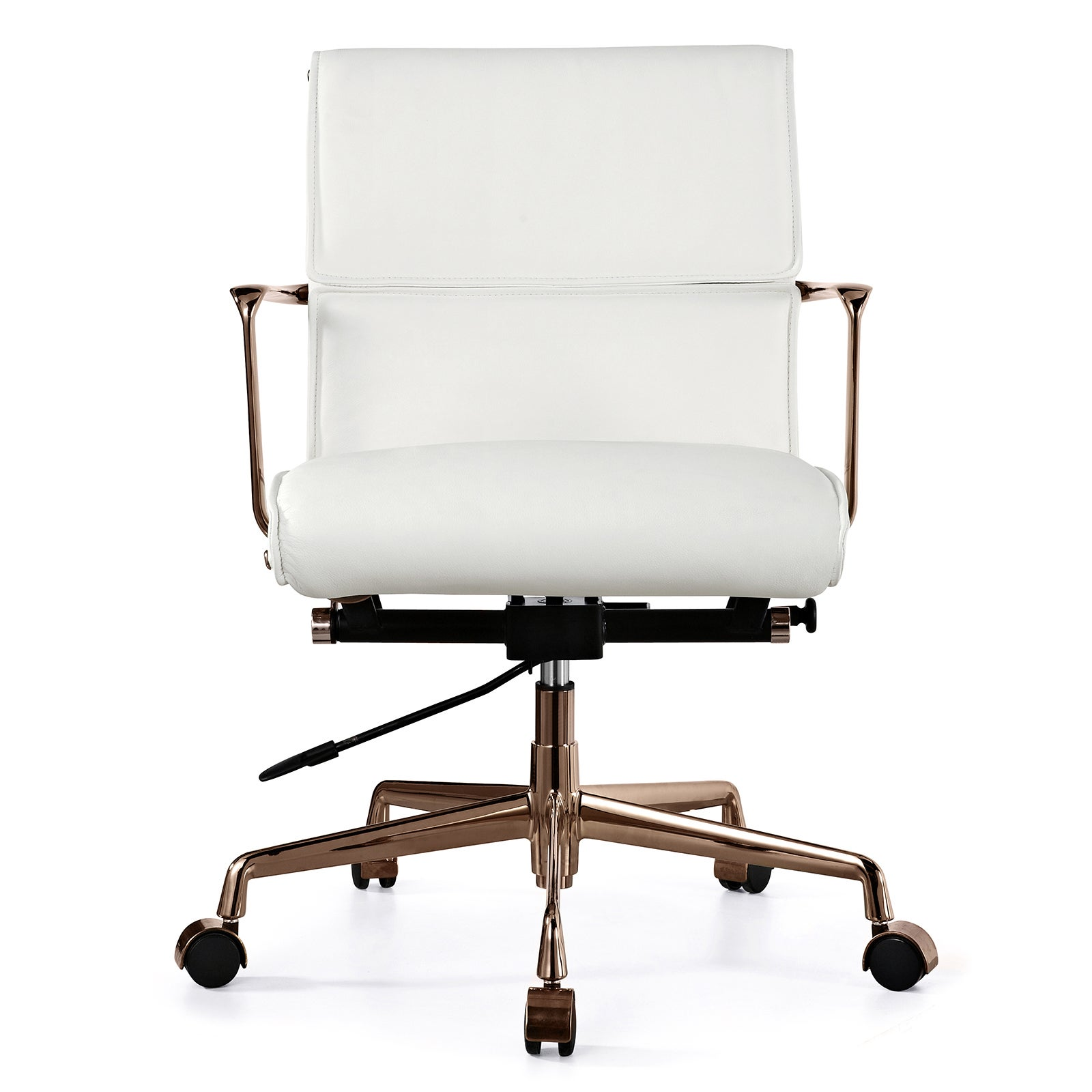Office Chair In Rose Gold And White
