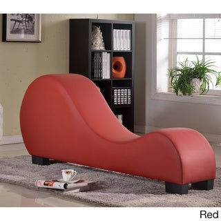 Faux Leather Yoga Chair Stretch Chaise Relax