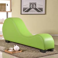 Oliver & James Soulages Faux Leather Yoga Chair Stretch Chaise