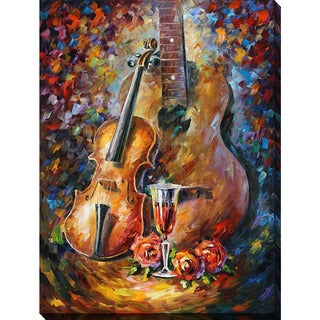 Leonid Afremov 'Guitar And Violin' Giclee Print Canvas Wall Art