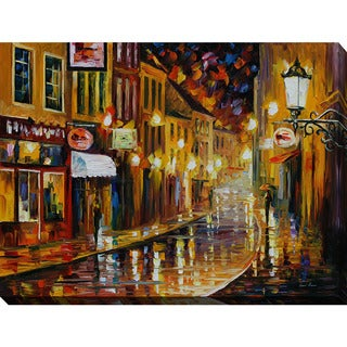 Leonid Afremov 'Lights Of The Old Town' Giclee Print Canvas Wall Art