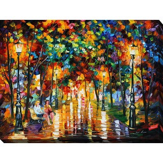 Leonid Afremov 'Gossips' Giclee Print Canvas Wall Art