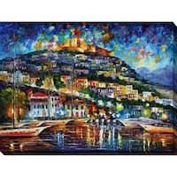 Leonid Afremov 'Greece - Lesbos Island' Giclee Print Canvas Wall Art