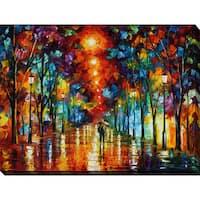 Leonid Afremov 'Night Park' Giclee Print Canvas Wall Art