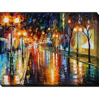 Leonid Afremov 'Night Perspective' Giclee Print Canvas Wall Art