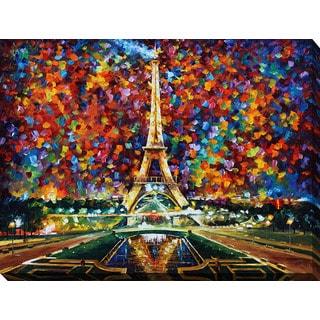 Leonid Afremov 'Paris Of My Dreams' Giclee Print Canvas Wall Art