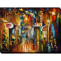 Leonid Afremov 'Old City Street' Giclee Print Canvas Wall Art