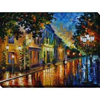 Leonid Afremov 'On The Way To Morning' Giclee Print Canvas Wall Art