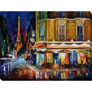 Leonid Afremov 'Paris - Recruitement Cafe' Giclee Print Canvas Wall Art