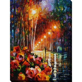 Leonid Afremov 'Park Flowers' Giclee Print Canvas Wall Art
