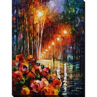 Leonid Afremov 'Park Flowers' Giclee Print Canvas Wall Art