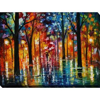 Leonid Afremov 'Rain Of Fire' Giclee Print Canvas Wall Art