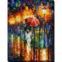Leonid Afremov 'Red Umbrella' Giclee Print Canvas Wall Art