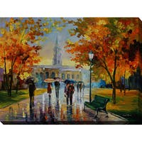 Leonid Afremov 'Stroll In An October Park' Giclee Print Canvas Wall Art