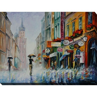 Leonid Afremov 'Summer Downpour' Giclee Print Canvas Wall Art