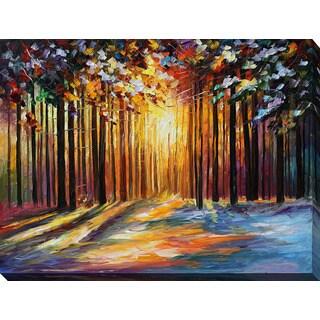 Leonid Afremov 'Sun Of January' Giclee Print Canvas Wall Art
