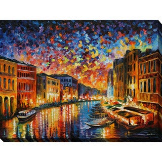 Leonid Afremov 'Venice Grand Canal' Giclee Print Canvas Wall Art