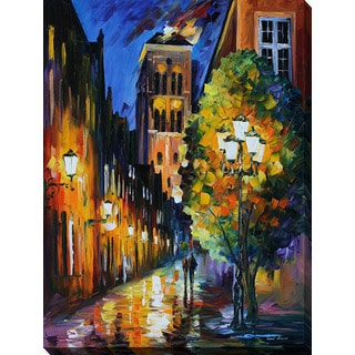 Leonid Afremov 'The Lights Of The Old Town' Giclee Print Canvas Wall Art