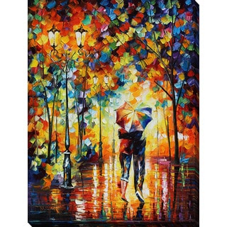Leonid Afremov 'Under One Umbrella' Giclee Print Canvas Wall Art