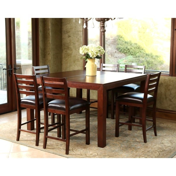 Messina Estates Seven Piece Traditional Dining Table And: Shop Abbyson Messina 7 Piece Counter Height Extendable