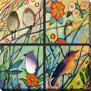 Jennifer Lommers 'Bird Quadrant III' Giclee Print Canvas Wall Art