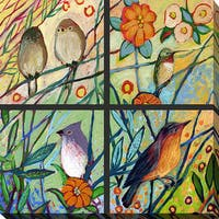 Jennifer Lommers 'Bird Quadrant III' Giclee Print Canvas Wall Art