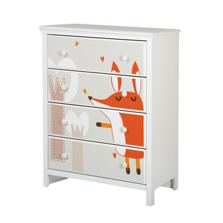 South Shore Cotton Candy 4-drawer Chest with Fox Ottograff