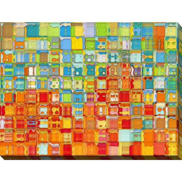 Mark Lawrence 'Tile Art #4 2012' Giclee Print Canvas Wall Art