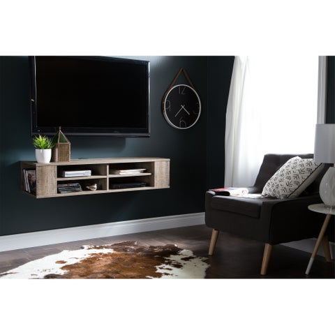 South Shore City Life Wall Mounted Media Console - 49.5'' (w) x 16.25'' (d) x 11.5'' (h)