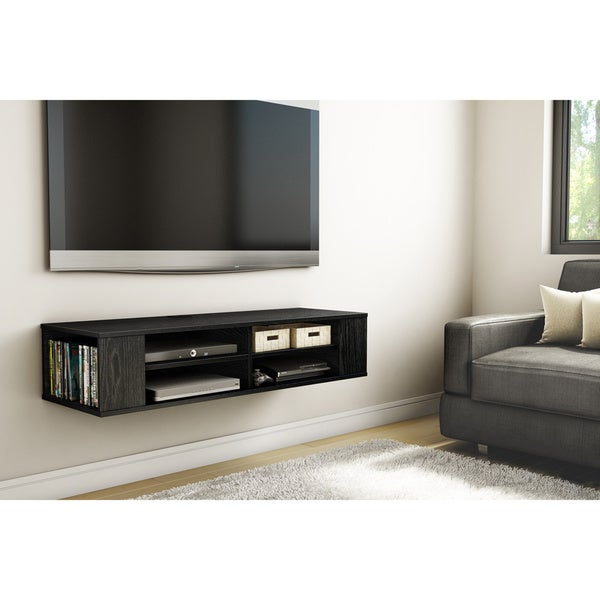 South shore city life wall mounted media console free Wall mounted media console