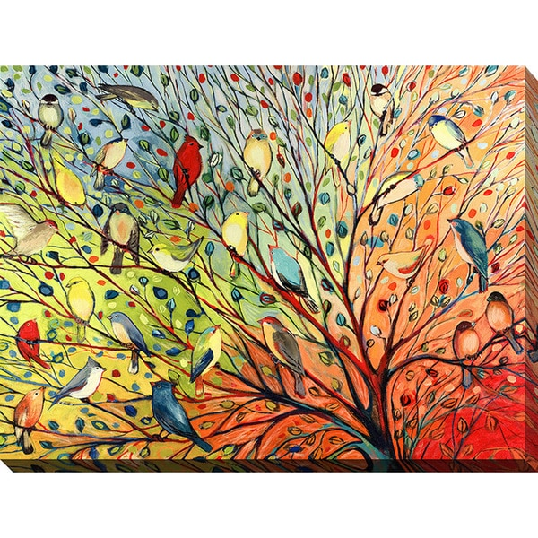 Shop Jennifer Lommers \'27 Birds\' Giclee Print Canvas Wall Art - On ...