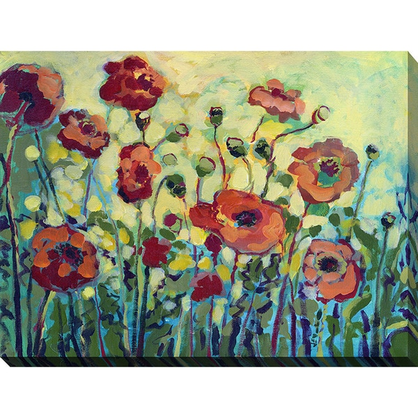 Jennifer lommers 39 anitas poppies 39 giclee print canvas wall for Poster prints for sale